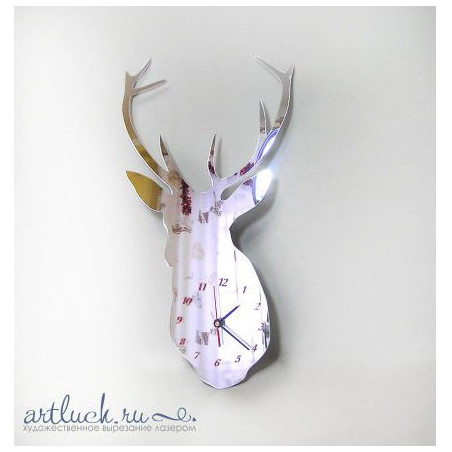 "Mirror Clock ""Deer"""